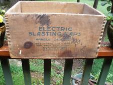 New listing Electric Blasting Caps Ammo Wood Box