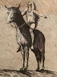 RARE 2x SIGNED ORIGINAL PAUL WANCHAK ( 1921-1998 ) Native American ETCHING SLATE