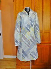 MISSONI sport Pastel Plaid Check Knit WOOL Mohair Shawl Collar COAT JACKET 42