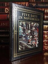Easton Press Five Days in November ✎Signed✎ by Clint Hill New Sealed Leather Jfk