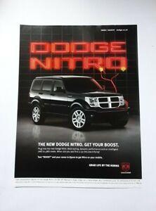 Dodge Nitro Advert from 2007 - Original Ad Advertisement