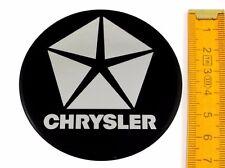 CHRYSLER ★ 4 Stück ★ SILIKON Ø70mm Aufkleber Emblem Felgenaufkleber Radkappen