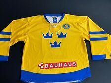 Sweden Ice Hockey Team NEH Jersey Men's Size L/XL Svenska Ishockey Shirt Bauhaus