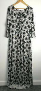 EAST grey stretch soft jersey long maxi Dress High Low Hem plus Size 20