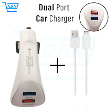 CAR CHARGER DOUBLE USB TWIN 2 PORT DUAL 12-24V CIGARETTE SOCKET LIGHTER + Cable
