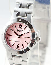 Casio Ltp1177a-4a1 Ladies Pink Analog Watch Stainless Steel Band Dress Date