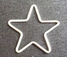 Sterling silver star shaped link connector heart charm jewelry finding