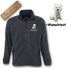 Chaqueta polar bordado Perro West Highland Blanco Terrier M1 + TEXTO DESEADO