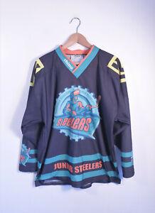 SHEFFIELD STEELERS | Retro Rhino British Ice Hockey Team Jersey Shirt | S M