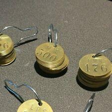 Number Tag, Brass, Series MPS 476-500, PK 25 BRADY 44719