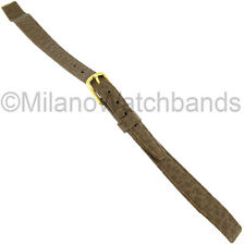 8mm Hirsch Brown Saddle Leather Unstitched Flat Open Ended Ladies Watch Band
