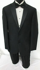 New with Tags Black Ralph Lauren Slim Fit 2 Button Satin Lapel Tuxedo Jacket 44R