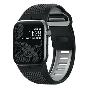 NEW OEM Nomad Silicone Sport Band Apple Watch 42mm 44mm BLACK SERIES 1 2 3 4 5 6