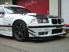 4Pcs Front Bumper Canard Splitter Refit Add on For BMW 95-99 E36 M3 Carbon Fiber