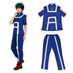 MHA Midoriya Deku Bakugou Gym Suit Uniform Cotton Cosplay Costume