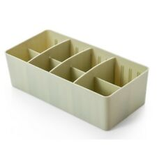 "2 Pack Plastic Organizer Drawer divider Storage Box L10.63""W5.12""H3.15"" Green"