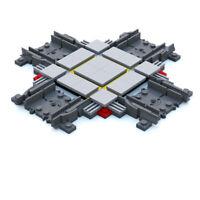 LEGO City Cross Track, Straight Cross Tracks for Passenger Cargo Train