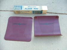 1964-66 Ford Thunderbird rear twin floor mat kit, dark red, NOS!