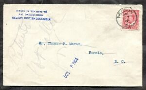 p1458 - NELSON BC 1904 Cover to Fernie. RETURNED ✉