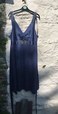 ANN LOUISE ROSWALD BLUE SATIN ENCHANTED DRESS WEDDING ~ Size 18