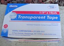 """DUKAL CORP. 1/2"""" x 10 YARDS TRANSPARENT TAPE ROLLS CASE (24 ROLLS NEW IN BOX)"""