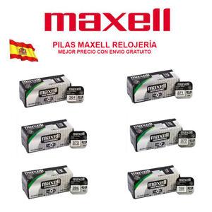 PILAS MAXELL 315 317 319 329  321 364 371 373 379 394 399 395 OXIDO DE PLATA