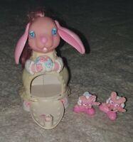 Rectro Tonka Keypers Joyful Bunny Rabbit 90s Toy Figure & Mini Figures Used 1992