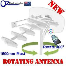Rotating Outdoor TV Amplified Antenna UHF VHF FM 4 Victoria Caravan RV House NEW
