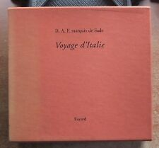 D.A.F. MARQUIS DE SADE : VOYAGE D'ITALIE - 2 VOL. SOUS COFFRET - ED. INTEGRALE