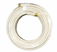 New Coaxial 50Ft.Coax Cable RG59 Male F Gold White TV Antenna 234*