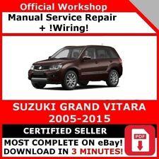 FACTORY WORKSHOP SERVICE REPAIR MANUAL SUZUKI GRAND VITARA 2005-2015