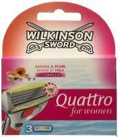 Wilkinson Sword Quattro For Women Razor Blades 3 Pack Refill