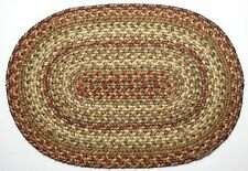 """Homespice Decor HARVEST Braided Jute 13"""" X 19"""" Placemat"""