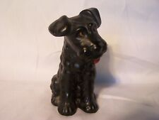 VINTAGE SYLVAC DOG TERRIER SPANIEL BLACK  1378 ENGLAND POTTERY PORCELAIN