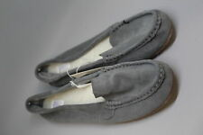Stars Above Womens Moccasin Slippers - Genuine Suede Slip On Chia - Gray-Size 11