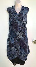TAKING SHAPE / TS Gorgeous Squiggly Lines Blue & Black Layering Dress sz 18