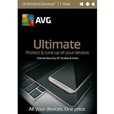 NIB! AVG Ultimate 2016 Unlimited Devices / 1 YEAR - Free Upgrade to 2018