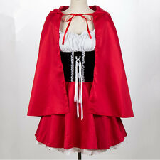Adult Women Red Riding Hood Costume Halloween Party Fancy Dress  Plus Size S-4X