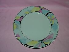"""Lynns Fine China Pearl ALICE Lily Blue Ring Floral 10-1/2"""" DINNER PLATE"""