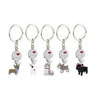 I Love My Dog Lovers Corgi Husky Bulldog Pet Puppy Pendant Key Chain Jewelry