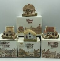 Lilliput Lane Cottages Lot of 4 Inglewood-Woodcutters -Tanners -Clover Used