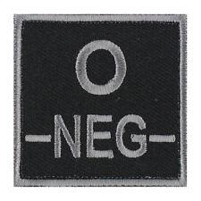 ÉCUSSON PATCH GROUPE SANGUIN O- / O NEG / O NÉGATIF avec DOS AUTO-AGRIPPANT