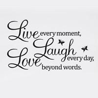 LIVE LAUGH LOVE Quote Wall Stickers Home Decor DIY Vinyl Art Mural Decal Room RT