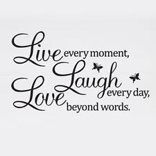 LIVE LAUGH LOVE Quote Wall Stickers Home Decor DIY Vinyl Art Mural Decal Room T&