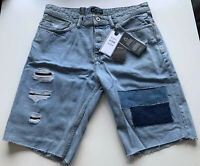 Bershka Mens Patch Denim Shorts Jeans BNWT Size UK 32''
