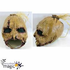 *Adult Scarecrow Villain Halloween Horror Chinless Chin Strap Head Latex Mask*