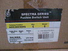 GE General Electric Spectra Series Fusible Switch ADS36030HS 30 Amkp 600 V
