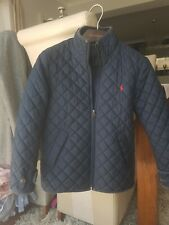 **RALPH LAUREN LADIES SIZE S (UK 8) LINED BLUE QUILTED JACKET**