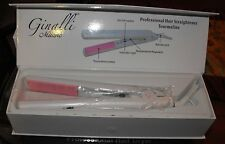 Ginalli Milano Tourmaline Ceramic Flat Iron / Hair Straightenber  White