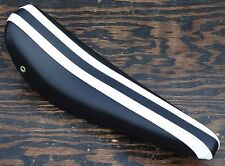 Black with White Stripes Banana Seat  Vintage Schwinn Stingray Krate Bike Saddle